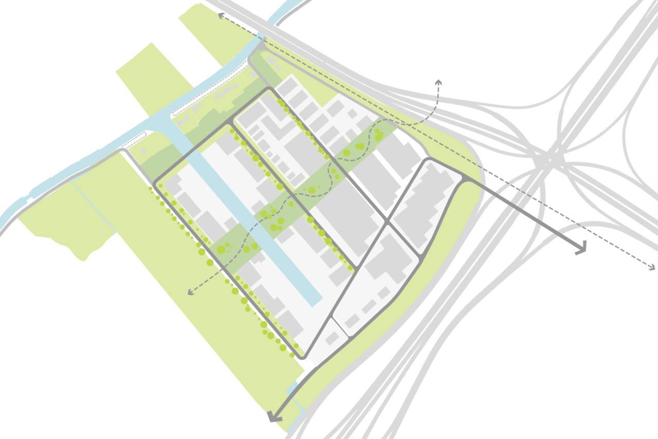 Westvlietweg inbedding