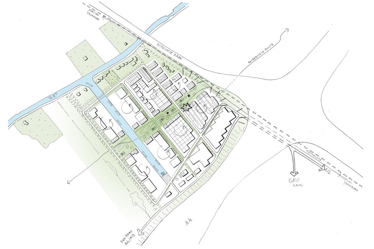 Westvlietweg kaart